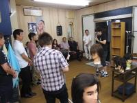 2014年7月 カット、エレメントパーマ 県本部講師・尾関 之一先生1