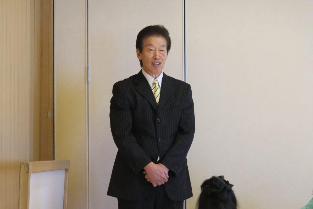 守山支部 高木治夫前支部長・安藤ユミ前女性部長 慰労会1